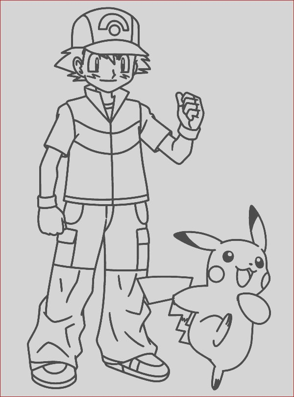 pikachu take ash ketchum for great journey on pokemon coloring page