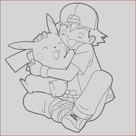 how to draw ash hugging pikachu with easy steps drawing tutorial