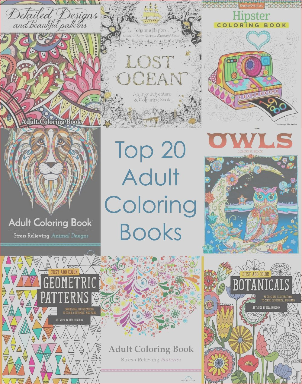 adult coloring books to