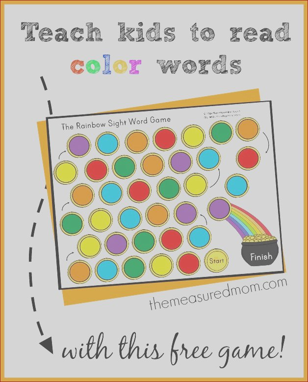 teach kids read color words free rainbow sight word game