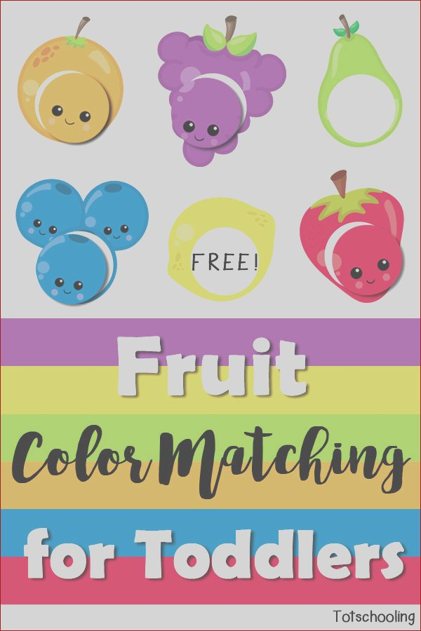 fruit color matching for toddlers