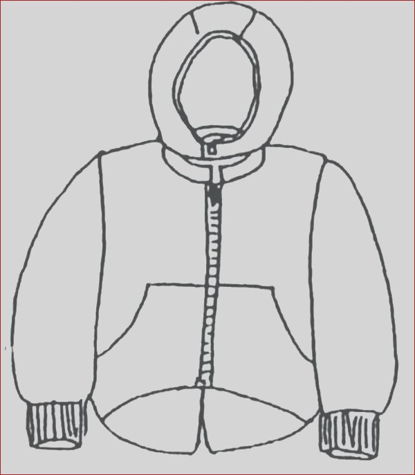 winter jacket drawing