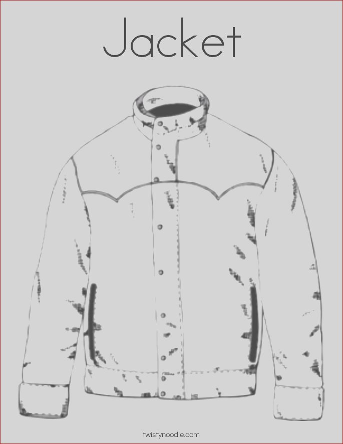 jacket 40 coloring page