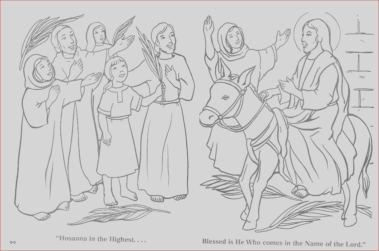 palm sunday colouring page