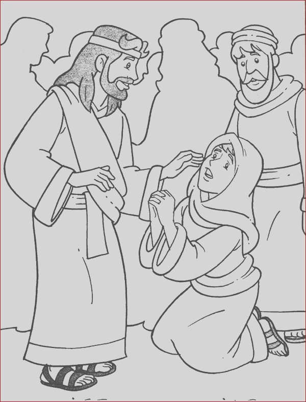 jesus heals the sick in miracles of jesus coloring page
