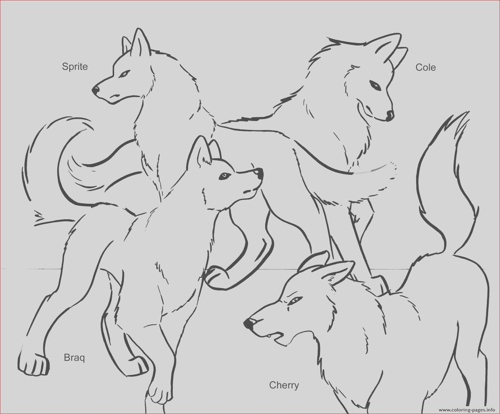 wolf pack team printable coloring pages book 9485