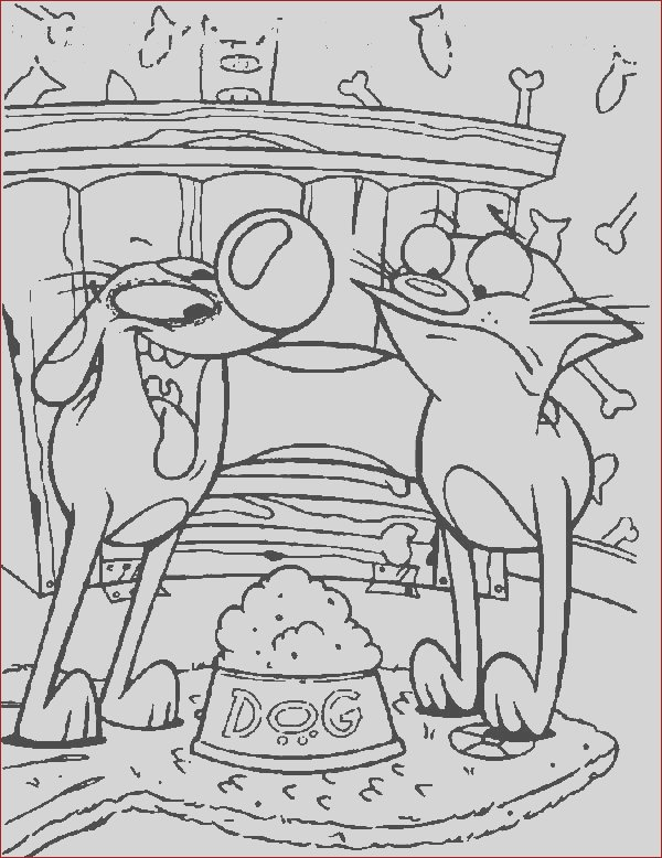 catdog party time coloring pages
