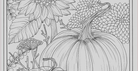 Fall Adult Coloring Pages Awesome Photos Fall Flowers and Pumpkins Digital Coloring Page Thanksgiving
