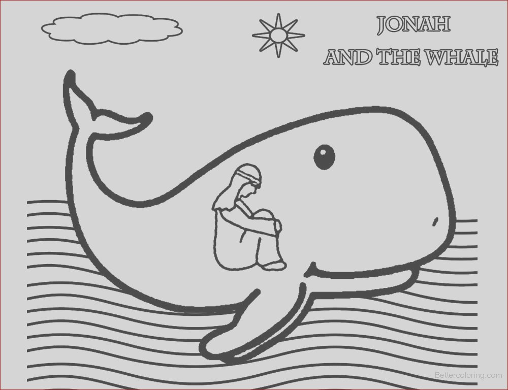 coloring pages of jonah and the whale