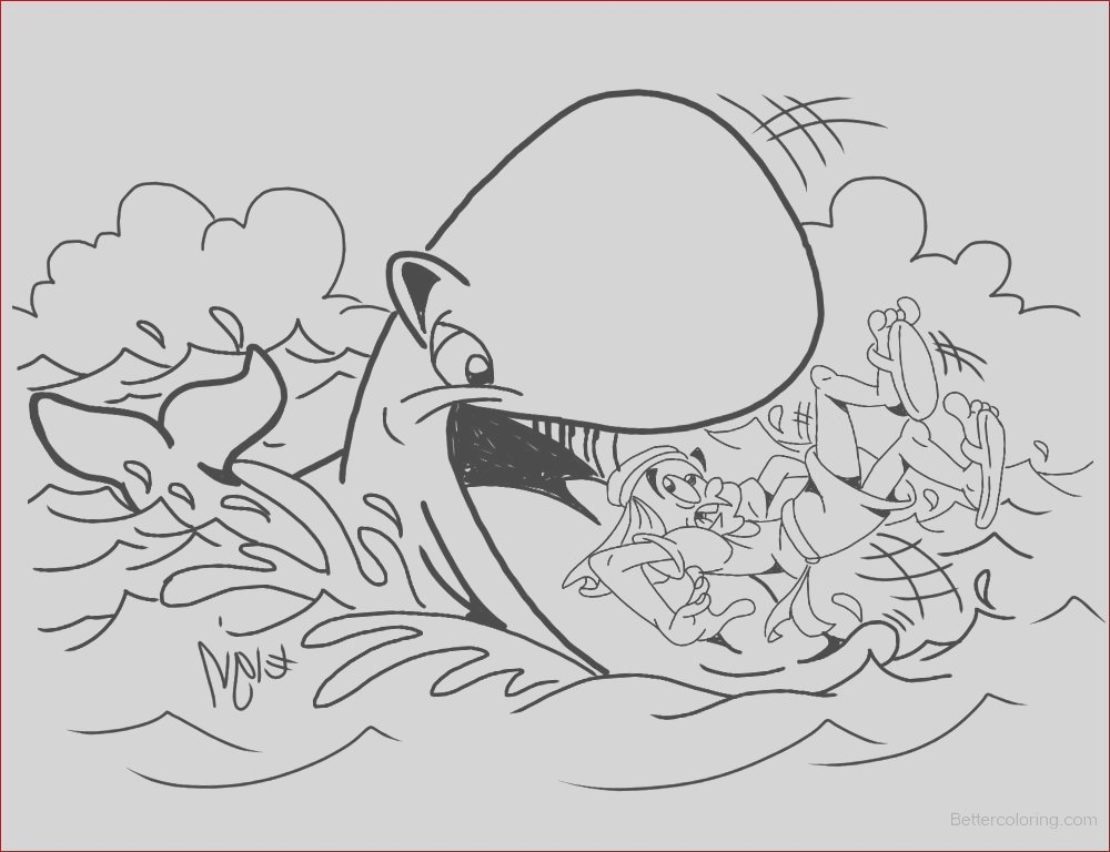 jonah swallowed by the whale coloring pages black and white