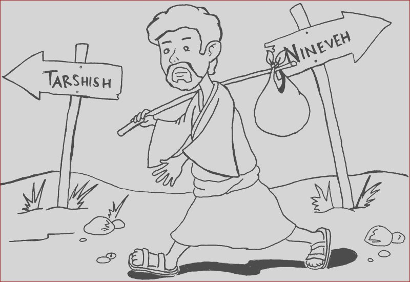 jonah coloring pages