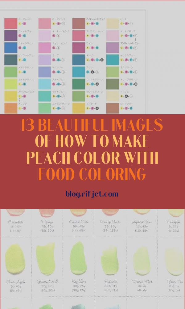 How to Make Peach Color with Food Coloring Awesome Images What Colors Make Peach with Food Coloring – Clrg