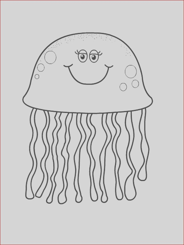 pretty eyes jellyfish coloring page