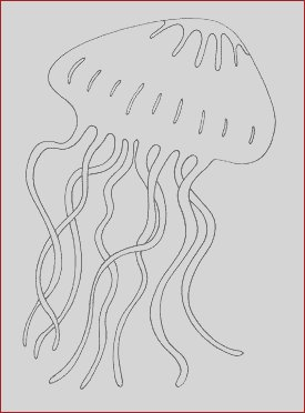 Giant Jellyfish Coloring Page