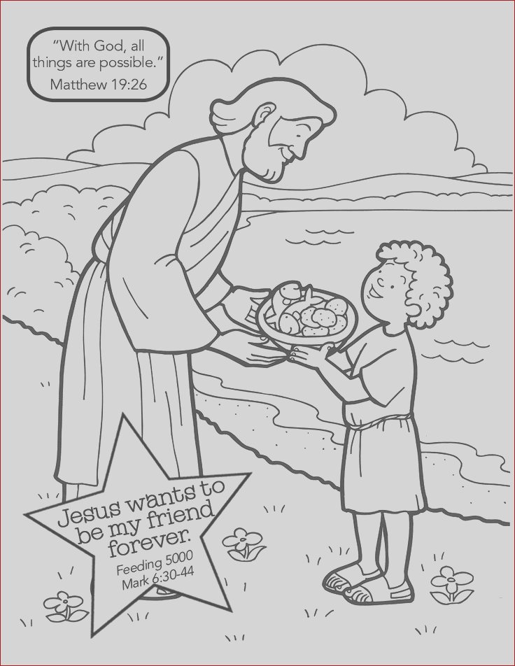 jesus feeds 5000 coloring page sketch templates