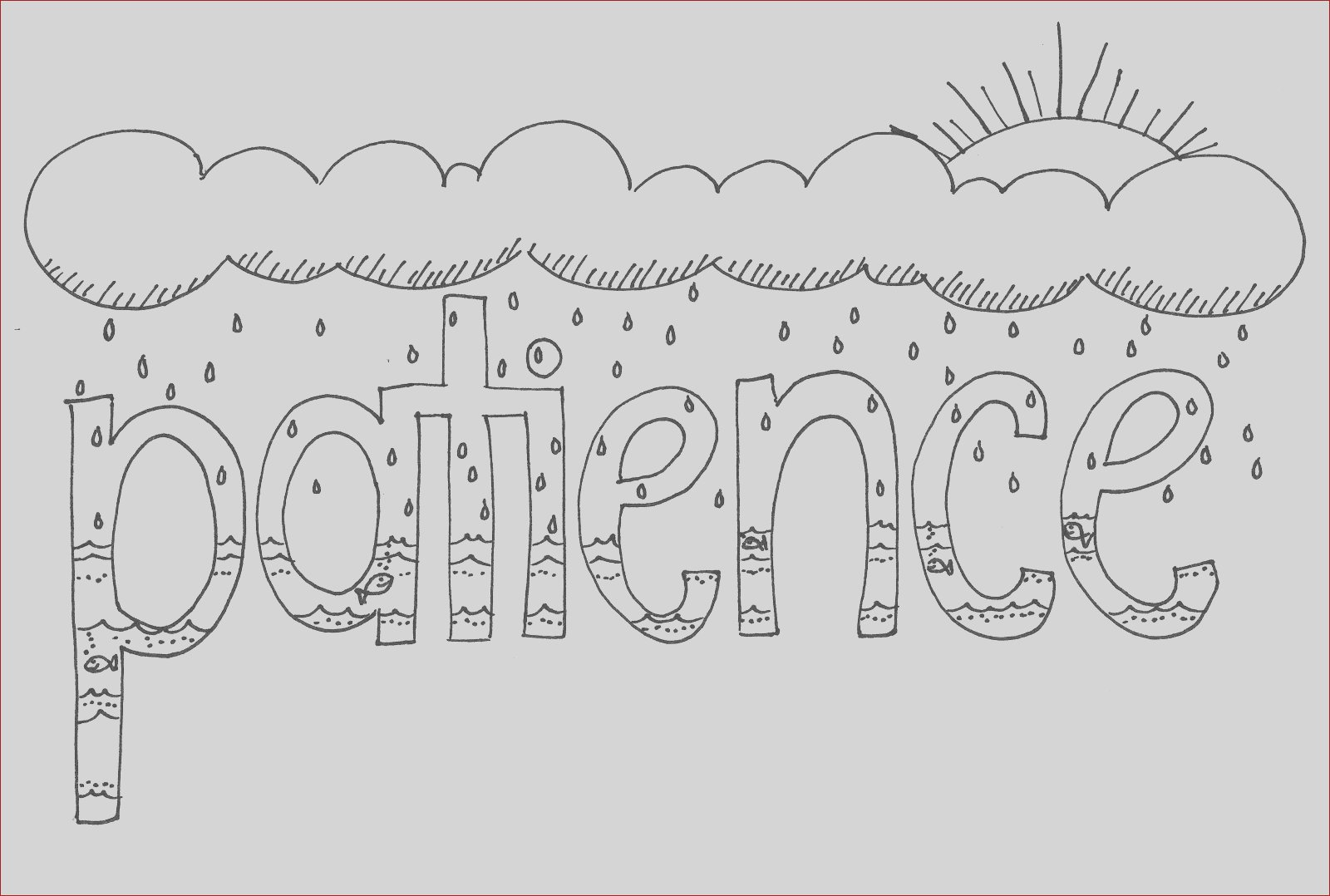 bible patience coloring coloring sketch templates