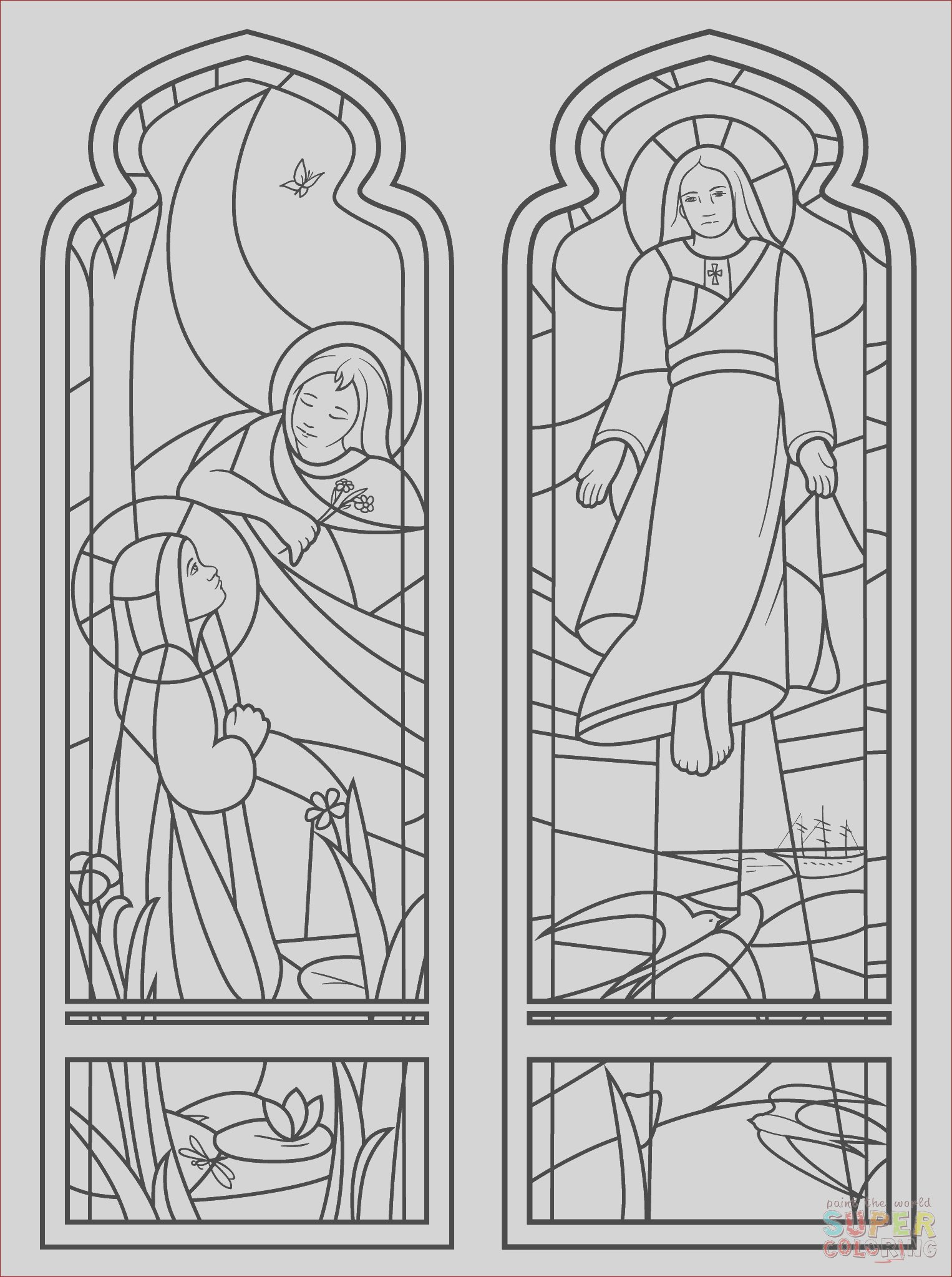 the ascension stained glass