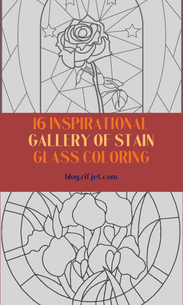 Stain Glass Coloring Luxury Collection Stained Glass Rose Coloring Page