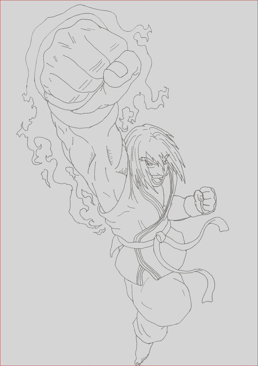 street fighter ken coloring pages sketch templates