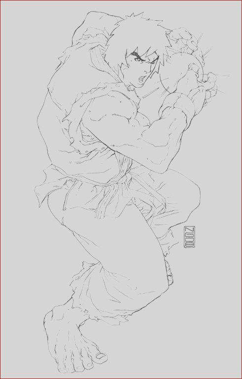 street fighter free coloring pages to