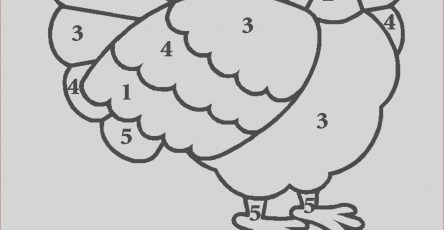 Turkey Coloring Pages for Preschoolers Cool Photos 17 Printable Color by Number Turkey